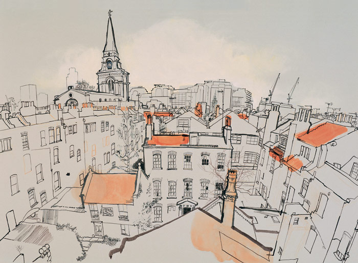 lucinda-rogers-View-over-Spitalfields-looking-west